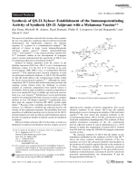 Synthesis of QS-21-Xylose  Establishment of the Immunopotentiating Activity of Synthetic QS-21 Adjuvant with a Melanoma Vaccine.