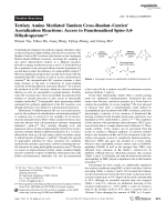 Tertiary Amine Mediated Tandem Cross-RauhutЦCurrierAcetalization Reactions  Access to Functionalized Spiro-3 4-Dihydropyrans.