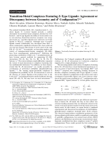 Transition-Metal Complexes Featuring Z-Type Ligands  Agreement or Discrepancy between Geometry and dn Configuration.