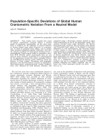 Population-specific deviations of global human craniometric variation from a neutral model.