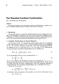 Time Dependent Coordinate Transformations.