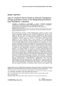 Use of limestone karst forests by Bornean orangutans (Pongo pygmaeus morio) in the Sangkulirang peninsula  east Kalimantan  Indonesia.