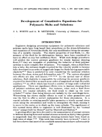 Development of constitutive equations for polymeric melts and solutions.