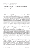 Editorial  911  Global Terrorism and Health.