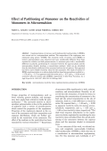 Effect of partitioning of monomer on the reactivities of monomers in microemulsion.