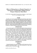 Effects of mixing states on physical properties of vulcanizates of polybutadiene rubber-general purpose polystyrene resin blend.