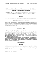 Effects of strain rate and comonomer on the brittleЦductile transition of polymers.