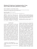Ethylene1-octadecene copolymerization using [5 1-C5Me4-4-R1-6-R-C6H2O]TiCl2 catalysts.