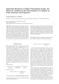 Hydraulic resistance of rigid polyurethane foams. III. Effect of variation of the concentration of catalysts on foam structure and properties