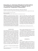 Preparation of a poly(3-hexylthiophene)-grafted indium tin oxidepoly(3-hexylthiopene) composite and its conductivityЦtemperature characteristics.