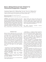 Heavy metals removal from solution by polyanilinepalygorskite composite.