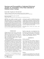 Structure and processability of iodinated poly(vinyl alcohol). IV. Drawability of the films iodinated at solution before casting