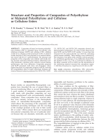 Structure and properties of composites of polyethylene or maleated polyethylene and cellulose or cellulose esters.