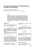 The temperature dependence of the doolittle equation parameter for polymer liquids.