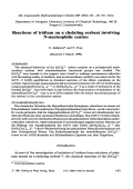 Reactions of iridium on a chelating sorbent involving N-nucleophilic centres.