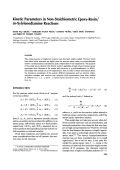 Kinetic parameters in non-stoichiometric epoxy-resinm-xylylenediamine reactions.