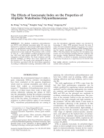 The effects of isocyanate index on the properties of aliphatic waterborne polyurethaneureas.