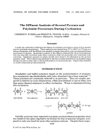 The effluent analysis of several pyrrone and polyimide precursors during cyclization.