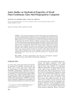 Some studies on mechanical properties of wood flourcontinuous glass matpolypropylene composite.