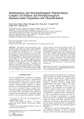 Stoichiometric and nonstoichiometric polyelectrolyte complex of chitosan and polyethyleneglycol-monosuccinate  Preparation and characterization.