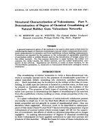 Structural characterization of vulcanizates. Part V. Determination of degree of chemical crosslinking of natural rubber gum vulcanizate networks