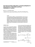 The interfacial polycondensation of tetrabromobisphenol-A polycarbonate. II. Reactivities and phase distribution of catalysts