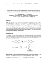 The preparation and performance of УCageФ diphosphites as secondary antioxidants in the stabilization of polyolefins.