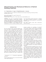 Manufacturing and mechanical behavior of hybrid building materials.