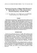 Mechanical properties of highly filled elastomers. II. Relationship between filler characteristics  thermal expansion  and bulk moduli