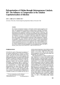 Polymerization of olefins through heterogeneous catalysis. XIV. The influence of temperature in the solution copolymerization of ethylene