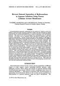 Reverse osmosis separation of hydrocarbons in aqueous solutions using porous cellulose acetate membranes.