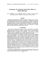 Techniques for studying strain rate effects in brittle materials.