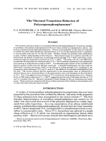 The thermal transition behavior of polyorganophosphazenes.