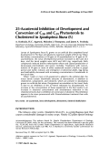 25-Azasteroid inhibition of development and conversion of C28 and C29 phytosterols to cholesterol in Spodoptera litura (F.)