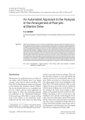 An automated approach to the analysis of the arrangement of post-pits at Stanton Drew.