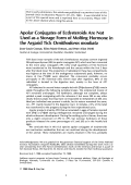 Apolar conjugates of ecdysteroids are not used as a storage form of molting hormone in the argasid tick Ornithodoros moubata.