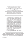 Automated method to measure trabecular thickness from microcomputed tomographic scans and its application.