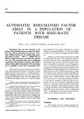 Automated rheumatoid factor assay in a population of patients with rheumatic disease.