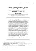 Cement lines of secondary osteons in human bone are not mineral-deficientNew data in a historical perspective.
