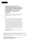 Characterization of the trypsin-like protease (Ha-TLP2) constitutively expressed in the integument of the cotton bollworm  Helicoverpa armigera.