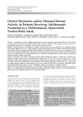 Clinical remission andor minimal disease activity in patients receiving adalimumab treatment in a multinational open-label twelve-week study.