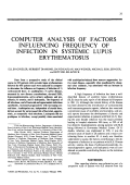 Computer analysis of factors influencing frequency of infection in systemic lupus erythematosus.