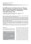 Cost-effectiveness of intensive exercise therapy directly following hospital discharge in patients with arthritisResults of a randomized controlled clinical trial.