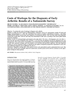 Costs of workups for the diagnosis of early arthritisResults of a nationwide survey.