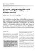 Influence of coping skills on health-related quality of life in patients with systemic lupus erythematosus.