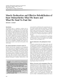 Muscle dysfunction and effective rehabilitation of knee osteoarthritisWhat we know and what we need to find out.