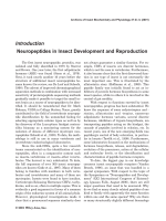 Neuropeptides in insect development and reproduction.