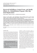 Perceived self-efficacy gained from and health effects of a rehabilitation program after hip joint replacement.