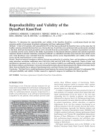 Reproducibility and validity of the DynaPort KneeTest.