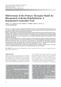 Effectiveness of the primary therapist model for rheumatoid arthritis rehabilitationA randomized controlled trial.